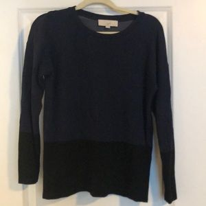 Loft Block Navy and Black Pullover